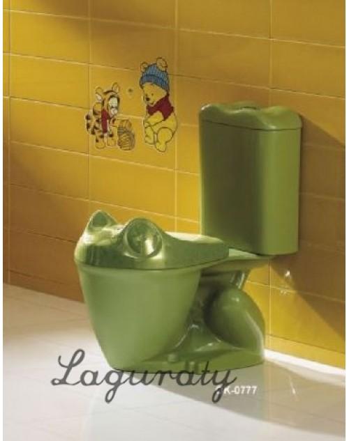 Детский Унитаз Агуша зеленого цвета